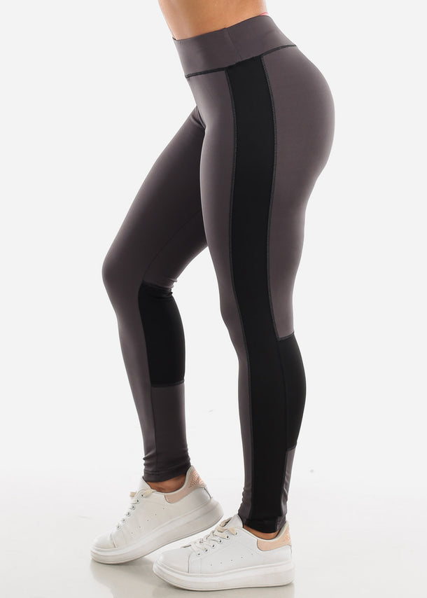 Activewear Dark Grey & Black Leggings