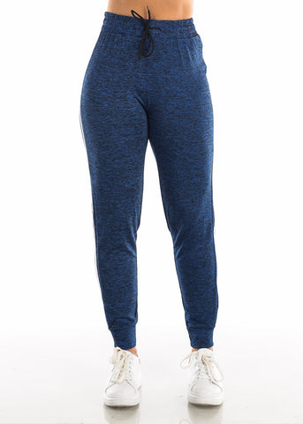 Image of Drawstring Heather Royal Blue Jogger Pants