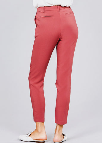Classic Rust Pink Dress Pants
