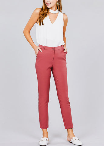 Image of Classic Rust Pink Dress Pants