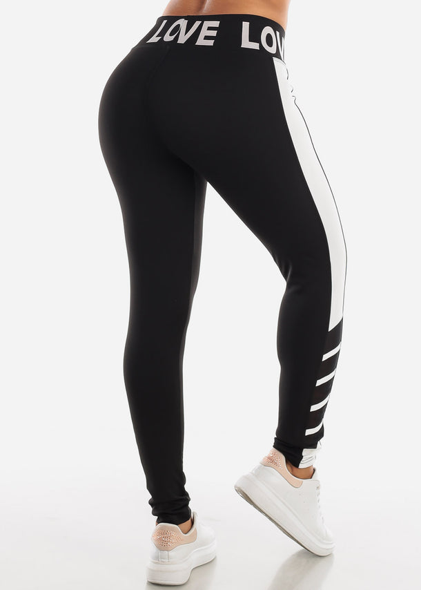 Activewear Black & White Leggings