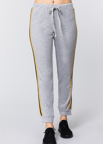 Image of Pull On Grey Drawstring Jogger Pants