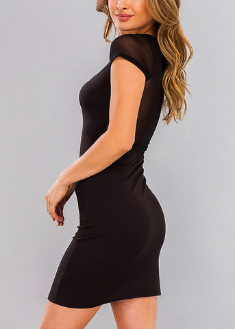 Little Black Dress with Mesh