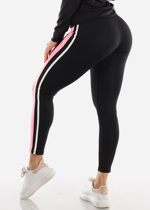 Activewear Pink & Black Pants