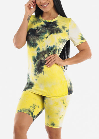 Image of Summer Tie Dye Printed Set