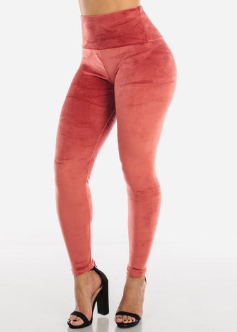Image of Brick Suede Leggings