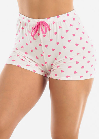 Comfy Pink Sleep Shorts