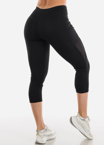 Activewear Black Capri Leggings