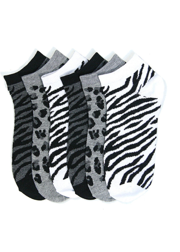 Animal Print Socks (12 PACK)