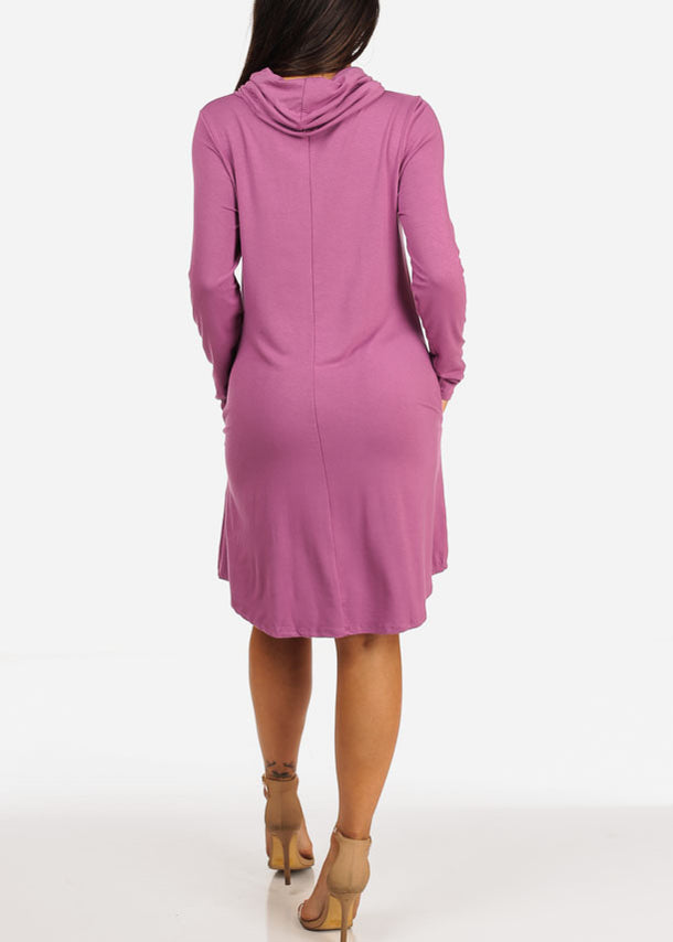 Violet Cowl Neck Dress