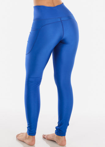 Activewear High Rise Blue Leggings