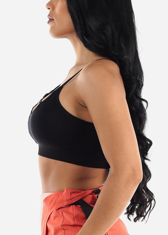 Image of Strappy Black Sports Bra