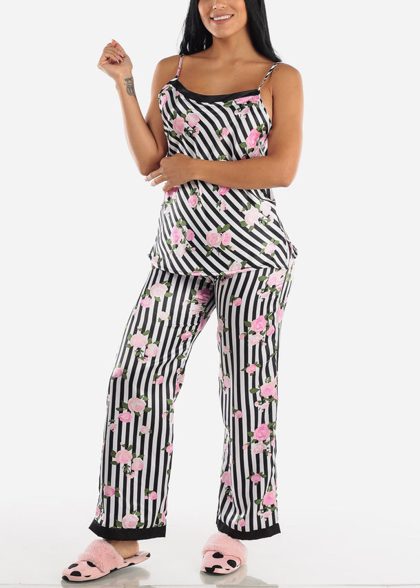 Satin Printed Cami & Pants (2 PCE PJ SET)