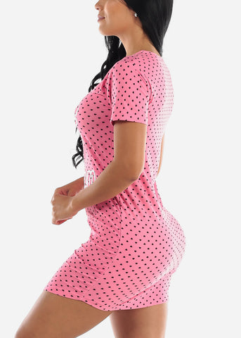 "Image of Pink Printed Sleep Dress ""Love 2 Nap"""