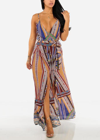 Image of Summer Multicolored Printed Jumpsuit