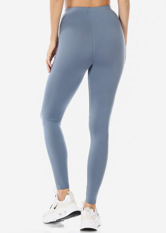 Image of Cement Mock Neck Top & Leggings (2 PCE SET)