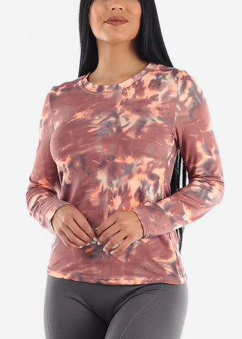 Image of Tie Dye Mauve Top