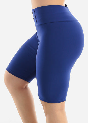 Image of Royal Blue Slip On Shorts