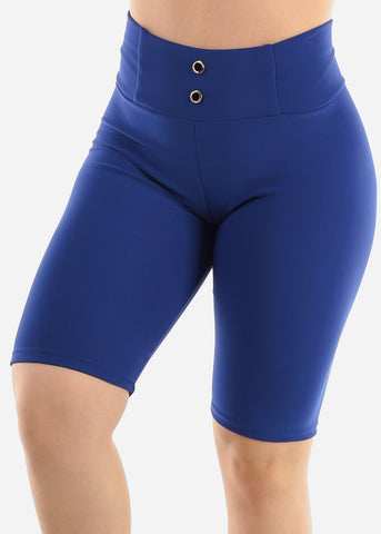 Royal Blue Slip On Shorts