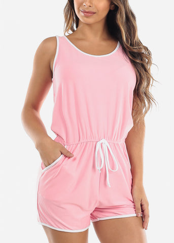 Sleeveless Light Pink Romper