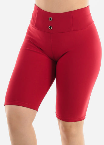 Image of Red Slip On Shorts