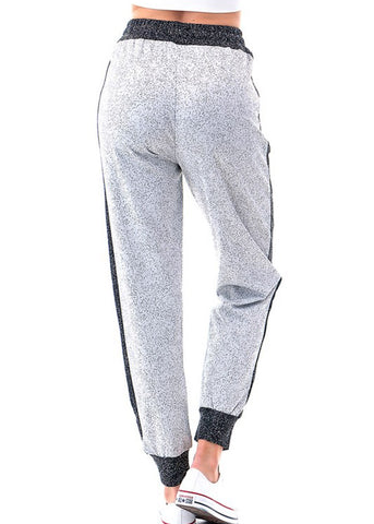Image of White & Black Jogger Pants