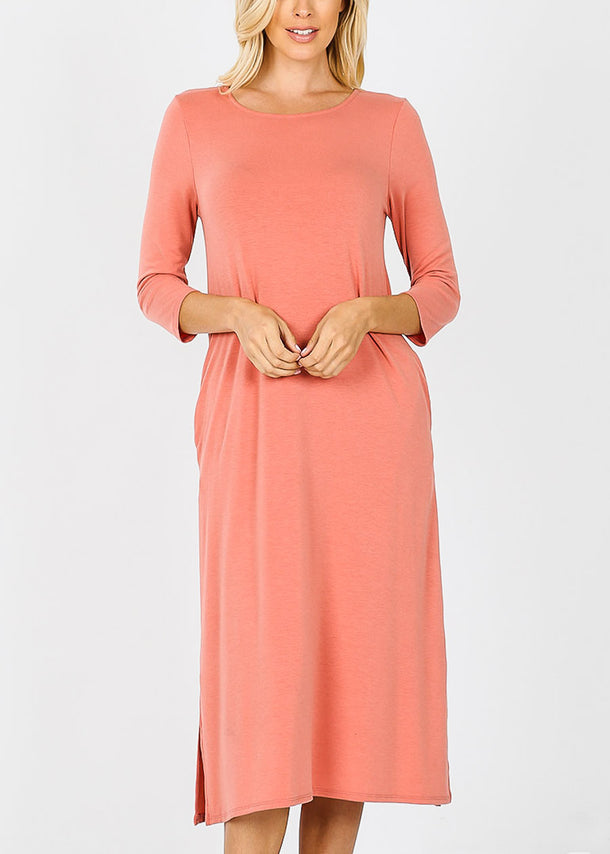 Ash Rose Mid Length Boxy Dress