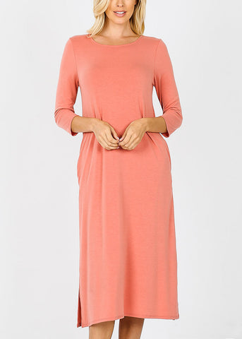 Image of Ash Rose Mid Length Boxy Dress