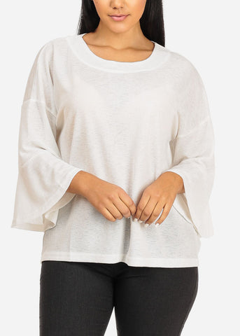 Image of Cute Stretchy White Top