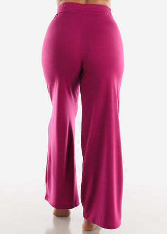 Image of Magenta Wide Legged Pants