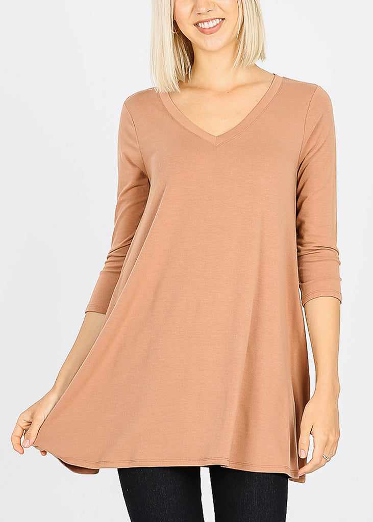 Egg Shell Flared Tunic Top