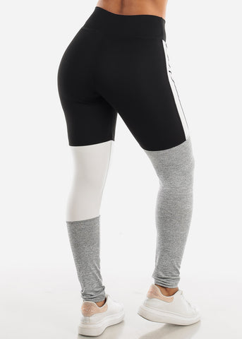 Image of Activewear Colorblock Black Leggings