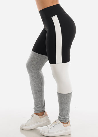 Activewear Colorblock Black Leggings