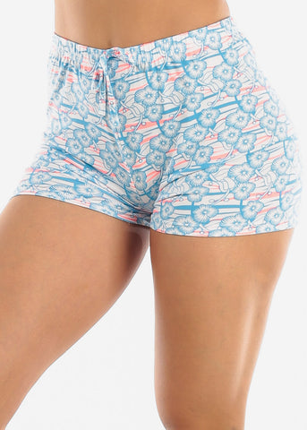 Image of Comfy Blue Sleep Shorts