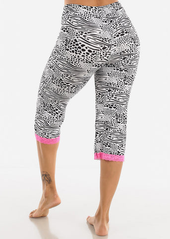 Black and White Capris PJ Pants