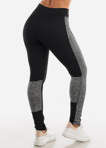 Image of Activewear Black & Grey Leggings