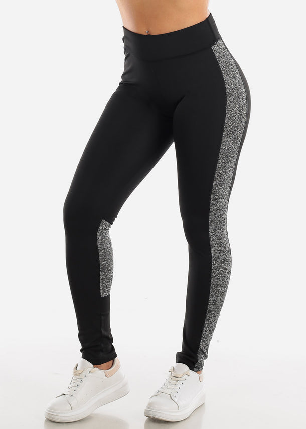 Activewear Black & Grey Leggings