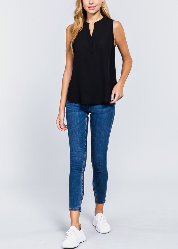 Black Sleeveless Dressy Top