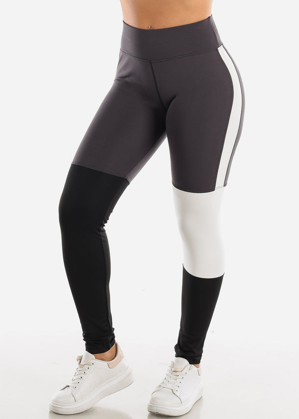 Activewear Colorblock Dark Grey Leggings