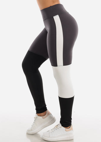 Image of Activewear Colorblock Dark Grey Leggings