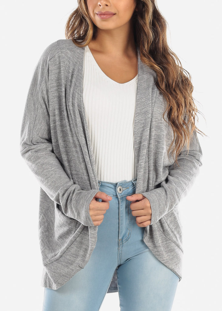 Grey Tunic Cardigan