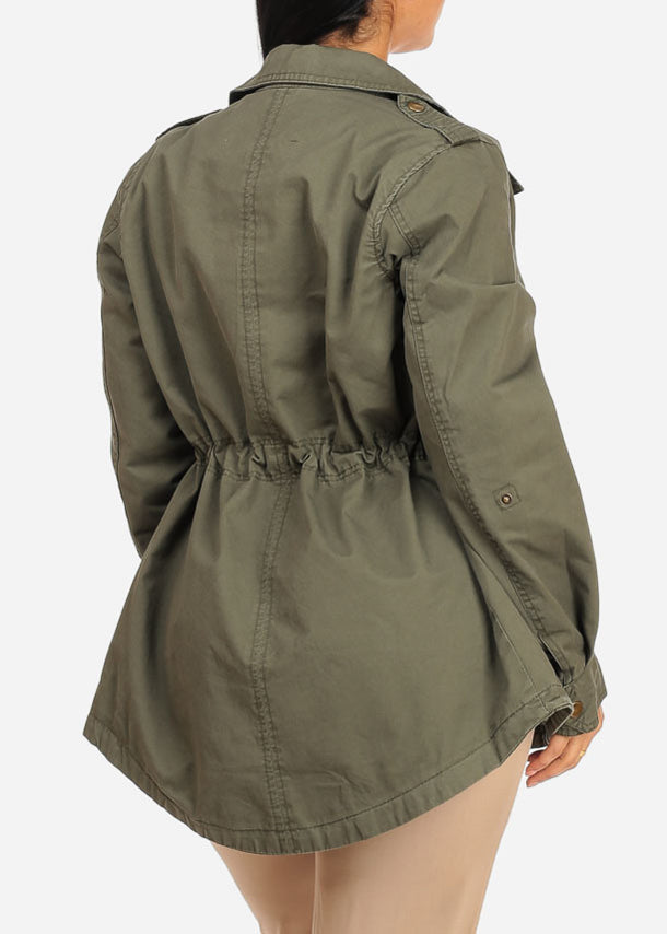 Zip Up Olive Jacket