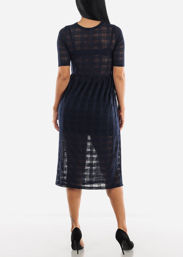 See-through Midi Dress