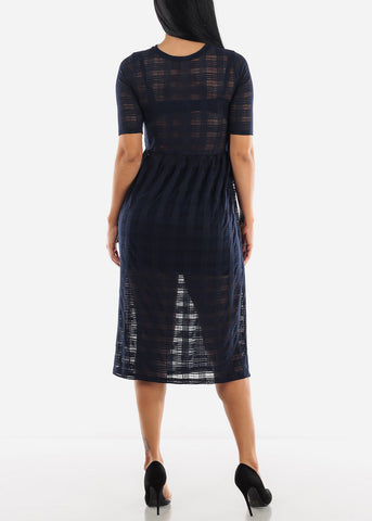 Image of See-through Maxi Midi Dress