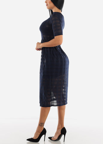 See-through Maxi Midi Dress