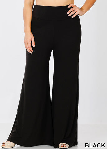 Image of High Black Grey Palazzo Pants