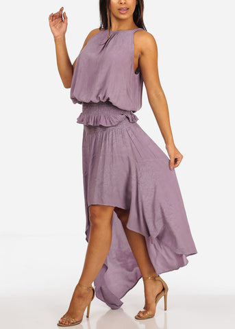 Image of Orchid Lightweight Sleeveless Top And High Rise High Low Skirt