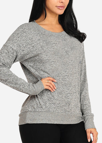 Image of Cozy Heather Grey Sweater