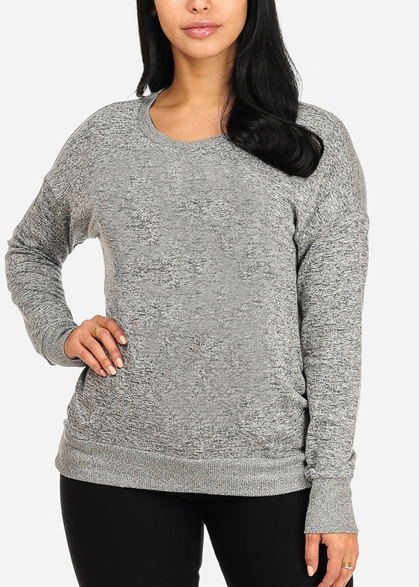 Cozy Heather Grey Sweater