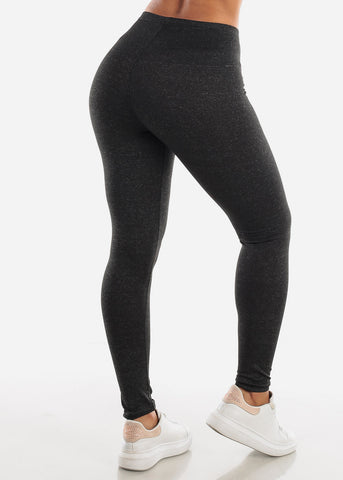 "Image of Activewear Charcoal Leggings ""Love"""